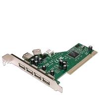 18007---USB PCI card 2.0 8 poort, 4 extern 4 poort intern