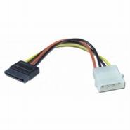 25041 --- Molex(4P)Female to SATA(15P)male Cable Adapter