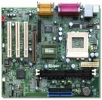 12804---Mainboard AOpen MX3S met Celeron 1 Ghz proc.