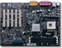 12808---Mainboard AOpen AX4BS met Celeron 2,3 Ghz proc.