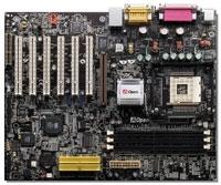 12809---Mainboard AOpen AX45-533 met Celeron 2,3 Ghz proc.